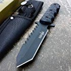 "9"" Navy SEALs Tactical Combat Bowie Knife w/SHEATH Military Fixed Blade Survival"