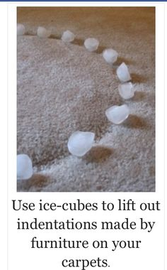 Remove carpet dents...