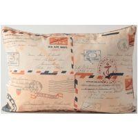 """Dear Grace"" Postcard Pillow / Fabric By The Yard"