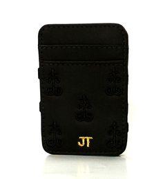 JT Magic Wallet Vintage 2 Color: Black and Golden #couro #bordado #fashion #accessories #moda #style #design #acessorios #leather #joicetanabe #carteira #carteiramagica #courolegitimo #wallet