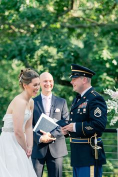 Lakeview Pavilion military wedding ceremony inspiration in Massachusetts. | Lynne Reznick Photography