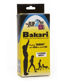 Another great find on #zulily! Bakari Fitness Memory Game by Flip2BFit #zulilyfinds