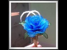 How to nylon stocking flower ( Rose brooch wedding)by ployandpoom (ผ้าใยบัว) - YouTube