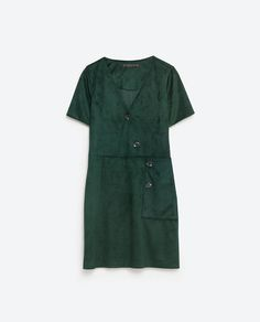 Image 8 of CROSSOVER BUTTONED DRESS from Zara