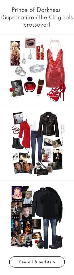 """""""Prince of Darkness  (Supernatural/The Originals crossover)"""" by melymel-luna ❤ liked on Polyvore featuring Charlotte Russe, ...Lost, Bloomingdale's, Allurez, Christian Dior, Tom Ford, Vince, LE3NO, DL1961 Premium Denim and Anine Bing"""