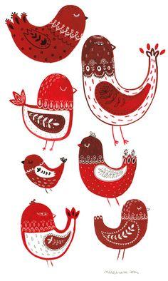 New red bird embroidery folk art 49 ideas Scandinavian Folk Art, Bird Embroidery, Embroidery Patterns, Bird Illustration, Naive Art, Bird Art, Pattern Art, Art Patterns, Diy Painting