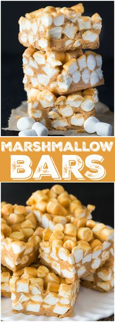 Marshmallow Bars - Smooth, creamy and chewy! This easy no-bake dessert has stood the test of time and been passed down for many generations.