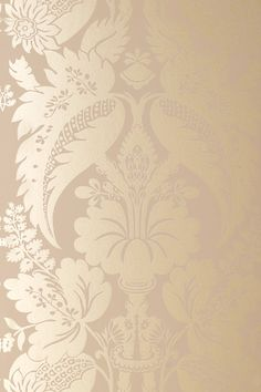 Tyntesfield wallpaper in Gilver on Mushroom, 1-877-229-9427 www.eadeswallpaper.com #designerwallpaper #wallpapersale #DIY