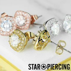 Square Earrings, Stud Earrings, Piercing, Studs, Plating, Brass, Pairs, Things To Sell, Jewelry