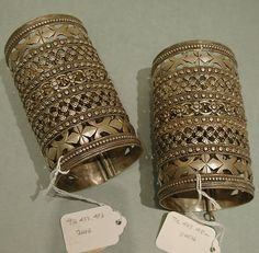 Armlet   Date: late 19th–early 20th century  Geography: Central Asia or Northern Afghanistan  Culture: Islamic  Medium: Silver with openwork, twisted wire and stamped bead decoration  Dimensions: 8 1/8 in. (20.6 cm)
