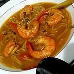 recette Soupe thaïe au citron et aux crevettes