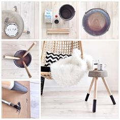 my DIY concrete Side table is a fact (this is not my image, but I was inpired by: www.nl So her image :- ) Cement Table, Concrete Stool, Diy Concrete, Diy Interior, Do It Yourself Regal, Hanging Hammock Chair, Hanging Chairs, Beton Diy, Petites Tables