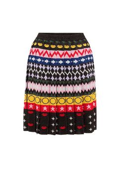 I like this from Mary Katrantzou Online... The exceptional knit story of the season, the Mary Katrantzou Mandy Skirt features a geometric striped motif interwoven with lurex threads for a delicate sparkle