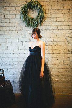 18 Beautiful Black Wedding Dresses via Brit + Co