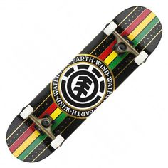 ELEMENT Rasta Black Seal skateboard complet 8 pouces 109,00 € #skate #skateboard #skateboarding #streetshop #skateshop @playskateshop