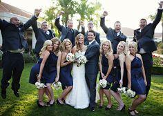 Navy Blue & Peach California Wedding   Bridal Musings