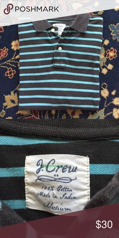 """J Crew Striped Polo Men's Classic and simple. The style, comfort and quality you expect from J Crew. In excellent condition with no issues. 19.25"""" underarm to underarm and 28"""" L J. Crew Shirts Polos"""