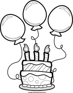 Birthday Black And White Hd clipart collections; graphic, photos, or images for Birthday Clipart Black And White clipart on HDclipartall. See high-quality clipart and more. Birthday Balloons Clipart, Balloon Clipart, Balloon Cartoon, Happy Birthday Balloons, Cake Clipart, Art Drawings For Kids, Easy Drawings, Birthday Clips, Birthday Cake
