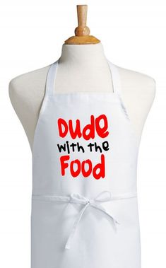 aprons for women | Dude With The Food Funny Novelty Aprons For Cooking by CoolAprons