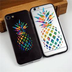 3D Impresso Bonito Abacaxi Fruta Dos Desenhos Animados Suave silicone TPU Caso Gel capa para iphone 7 7 plus 6 6 s 6 mais 6 sacos de telefone splus casos