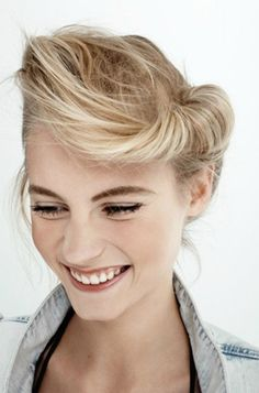 I want this teddy girl hair style