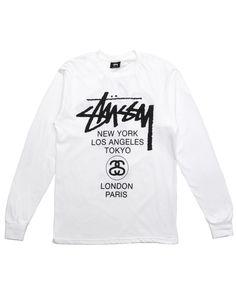 Stussy - World Tour L/S T-Shirt (White)