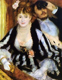 """La loge"", Pierrre-Auguste Renoir, 1874"