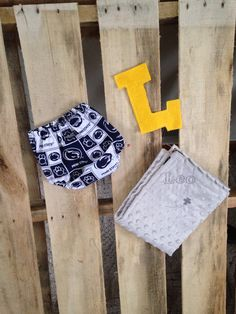 Custom diaper cover and baby embroidered baby blanket penn state