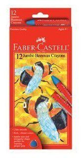 Faber-Castell 12ct Beeswax Crayons by Faber-Castell. $5.99. Recommended for ages 6 and up. Jumbo size and triangular shape. Features rich, vibrant colors. Ultra smooth beeswax crayons. Offers 12 per package. Beeswax results in ultra smooth coloring and rich and vibrant colors. The jumbo size and triangular shape are perfect for learning proper grip and will not roll off the desk.Age: All