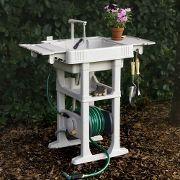 The Portable Outdoor Sink - Hammacher Schlemmer Outdoor Garden Sink, Outdoor Sinks, Outdoor Decor, Outdoor Living, Garden Hose, Backyard Games, Backyard Landscaping, Backyard Ideas, Outside Toilet
