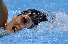 Suzanne Stettinius of the U.S. competes in the 200m freestyle swimming event of the women's modern pentathlon.