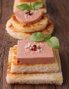 Foie Gras Canapés, perfect for a dinner party [ www.enjoyfoiegras.com ]