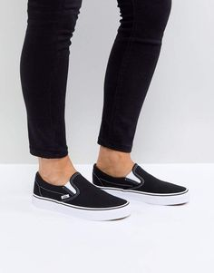a1a4234911 Vans Classic slip on sneakers in black and white
