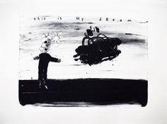 david lynch lithographs at idem paris.  Ik vind dit een goed voorbeeld van tekst die een beeld versterkt.