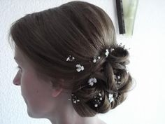 Updo with baby flowers! Bride Jessica!