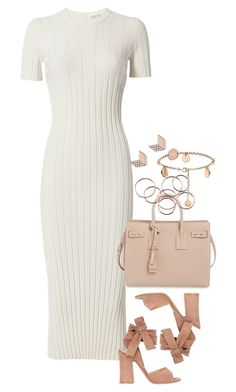 """""""Sem título #1269"""" by manoella-f on Polyvore featuring moda, Helmut Lang, Gianvito Rossi, Yves Saint Laurent e FOSSIL"""