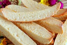 Biscocho or 'biskotso' is a Filipino version of biscotti. It is toasted bread that is usually topped or coated with butter and sugar. But this version uses condensed milk instead. Biscocho Recipe, Afternoon Snacks, Afternoon Tea, Bread Recipes, Cookie Recipes, Hard Bread, Baking For Beginners, Pandesal, Condensed Milk Recipes
