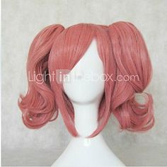 Top Quality Cosplay Wig Party Wigs Woman's Wigs Pink Long Wavy Animated Synthetic Hair Wigs - USD $ 15.99