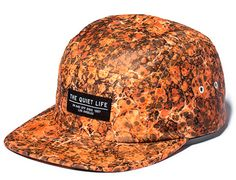 Rust Marble 5 Panel Cap by THE QUIET LIFE