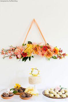Hanging Floral Swag