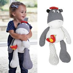 9.97$  Watch here - http://ali29l.shopchina.info/go.php?t=32590449565 - 50cm Baby Toys Striped Donkey Stuff Animal Comfort Doll Plush Toy for Girls Christmas Birthday Gift for Children Random Color   #magazine