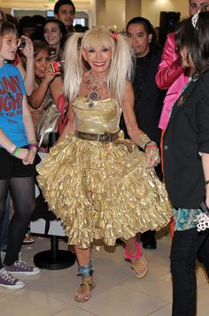 Love this incredible gold dress that Betsey designed years ago and found in a vintage shop recently. What a fun blast from the past for Betsey. XOX Betsey Johnson
