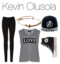 """Kevin Olusola"" by sofiarcx on Polyvore featuring Carmakoma, Oasis, Marvel Comics, Converse and Alex and Ani"