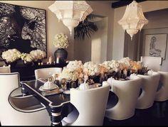 Khloe Kardashian's Thanksgiving table setting.