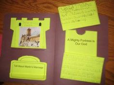 Unit Study Lapbook on Martin Luther and the Reformation