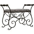 Batley Black Iron Vanity Bench (Black Wood) Overstock.com