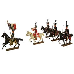 Chasseurs of 1809 (Light Cavalry) Vintage Napoleonic Toy Soldiers by Mignot