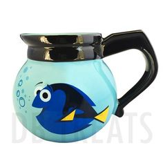 Disney Parks Finding Dory Coffeepot Mug Oh Look...Coffee. Get your Disney Parks Finding Dory Coffeepot mug to bring some life to that delicious brew or tea. The Finding Dory measures approximately 4.5