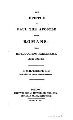 Terrot Romans Title, Bible In My Language