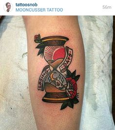 American traditional hourglass tattoo from Moomcusser Tattoo